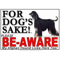 Afghan Hound BE-AWARE Dog Safety Sgn 2