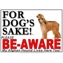 Afghan Hound BE-AWARE Dog Safety Sgn 3