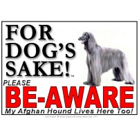 Afghan Hound BE-AWARE Dog Safety Sgn 4