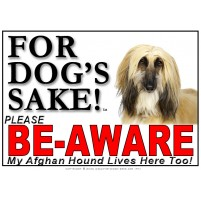Afghan Hound BE-AWARE Dog Safety Sgn 5