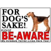 Airedale Terrier BE-AWARE Dog Safety Sgn 1