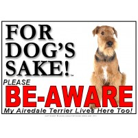 Airedale Terrier BE-AWARE Dog Safety Sgn 3