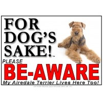 Airedale Terrier BE-AWARE Dog Safety Sgn 4