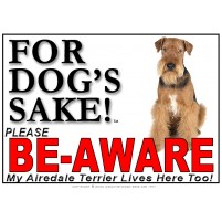 Airedale Terrier BE-AWARE Dog Safety Sgn 5