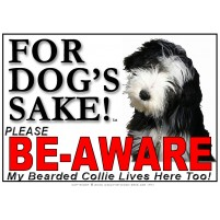 Bearded Collie BE-AWARE Dog Safety Sgn 4