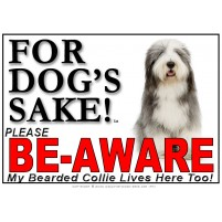 Bearded Collie BE-AWARE Dog Safety Sgn 6