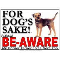 Border Terrier BE-AWARE Dog Safety Sgn 1