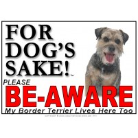 Border Terrier BE-AWARE Dog Safety Sgn 2