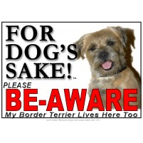 Border Terrier BE-AWARE Dog Safety Sgn 3