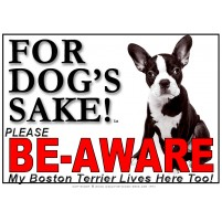 Boston Terrier BE-AWARE Dog Safety Sgn 4