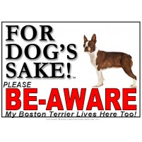 Boston Terrier BE-AWARE Dog Safety Sgn 5