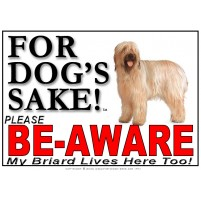 Briard BE-AWARE Dog Safety Sgn 1