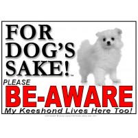 Keeshond BE-AWARE Dog Safety Sgn 1