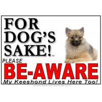 Keeshond BE-AWARE Dog Safety Sgn 3