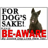 Scottish Terrier BE-AWARE Dog Safety Sgn 1