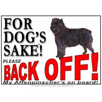 Affenpinscher Back Off! Vehicle Sign BOF001-2